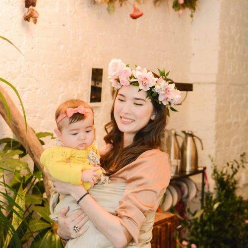 Making Flower Crowns with Raised Real at Flower Girl NYC